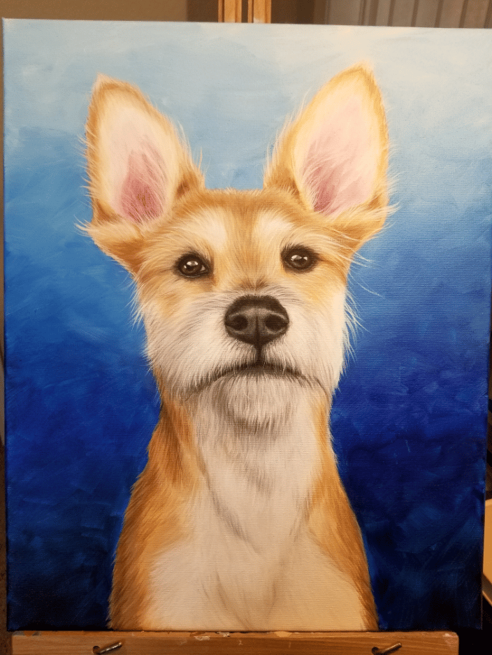 Example of a 16x20 dog portrait