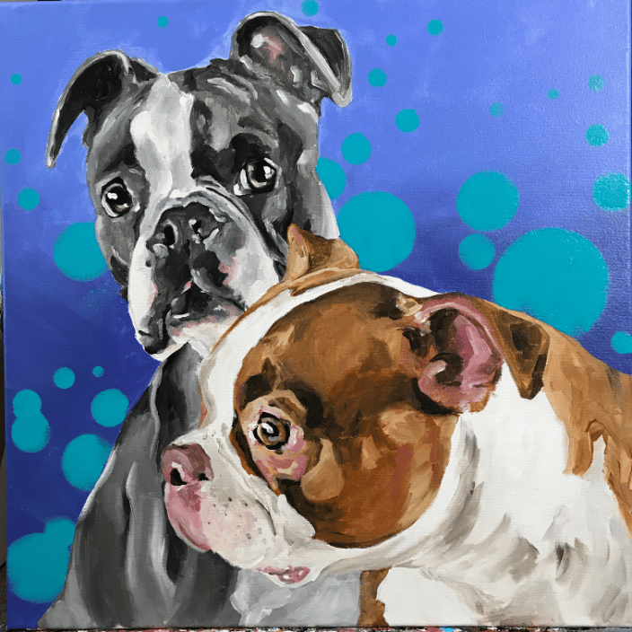 20x20 pet portrait