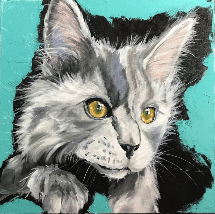 24x24 pet portrait